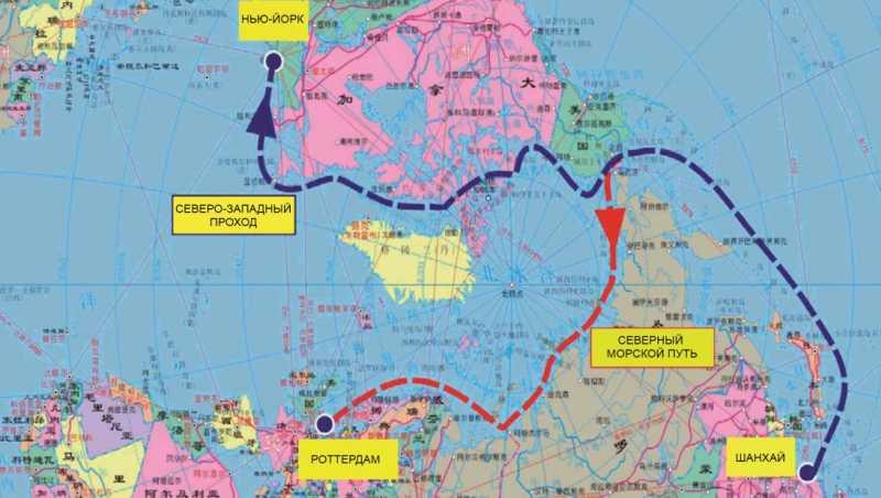 Арктические маршруты из Китая