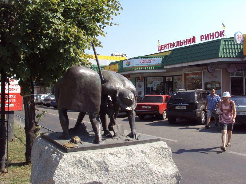 Памятник неутомимым дачникам в Бердянске