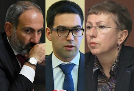 Оппоненты подозревают действующего главу Минюста в связях с директором фонда «Открытое общество в Армении» Ларисой Минасян (справа)