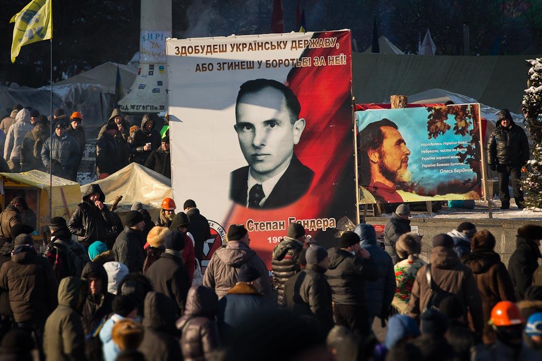 Бандера стал знаменем киевского майдана